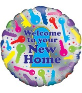 """18"""" Welcome to Your New Home Oaktree Foil Balloon"""