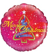 "18"" Ribbon Tree Christmas Holographic Oaktree Foil Balloon"