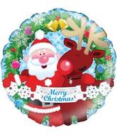 """18"""" Christmas Friends Oaktree Foil Balloon"""