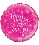 "18"" Dappled Flowers Mothers Day Oaktree Foil Balloon"