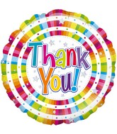"""18"""" Bright Thank You Holographic Oaktree Foil Balloon"""