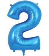 "34"" Number 2 Blue Oaktree Foil Balloon"