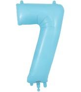 "34"" Number 7 Matte Blue Oaktree Foil Balloon"
