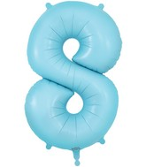 "34"" Number 8 Matte Blue Oaktree Foil Balloon"