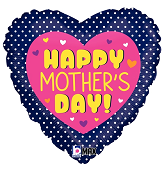 """18"""" MAX Float Balloon Mother's Day Swiss Dots"""