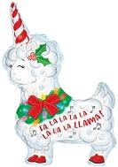 "12"" Airfill Only Christmas Unicorn Foil Balloon"