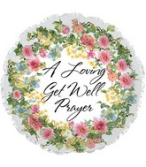 """9"""" Airfill Only Foil Balloon Floral Prayer"""