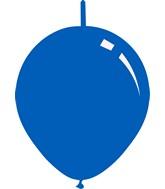 "11"" Deco Royal Blue Decomex Linking Latex Balloons (100 Per Bag)"