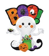 """36"""" Boo Ghost With Candy Foil Balloon"""