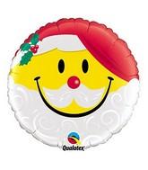 """18"""" Emoji Santa Clause Packged Foil Balloon"""