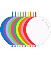 "11"" Standard Assorted Decomex Linking Latex Balloons (100 Per Bag)"