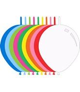 "6"" Standard Assorted Decomex Linking Latex Balloons (100 Per Bag)"