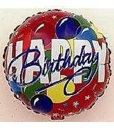 "4"" Airfill Happy Birthday Bold Red"