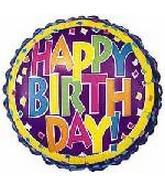"2"" Airfill Only Happy Birthday Confetti"