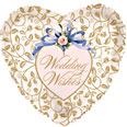 "18"" Wedding Wishes Filigree Background"