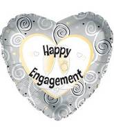 "17"" Happy Engagement Foil Balloon"