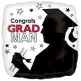 """18"""" Congrats Grad Man Balloon"""
