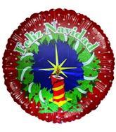 """28"""" Feliz Navidad Reef Spanish Polka Dots Jumbo Balloon"""