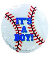 "4"" Airfill It's a Boy Blue Baseball Balloon"