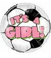 "9"" Airfill Its a Girl Soccer Ball M375"