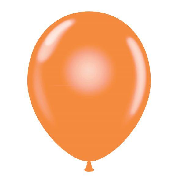 """24"""" Orange Latex Balloons 5 Count"""