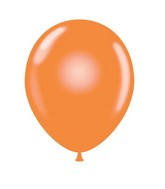 "24"" Orange Latex Balloons 5 Count"
