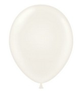 "24"" White Latex Balloons 5 Count"