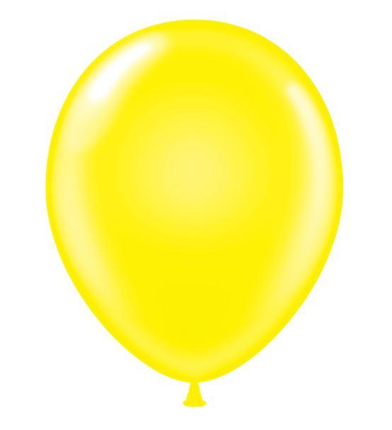"24"" Round Yellow Latex Balloons 5 Count"
