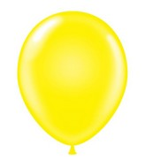 "24"" Yellow Latex Balloons 5 Count"
