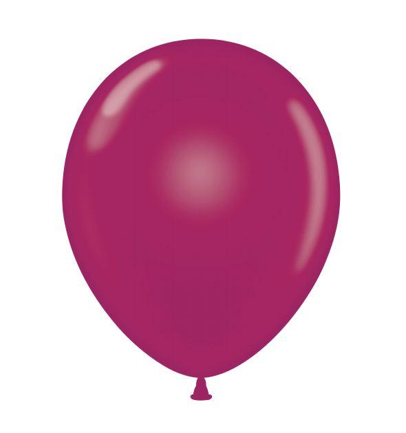 "24"" Burgundy Latex Balloons 5 Count"