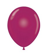 "24"" Round Burgundy Latex Balloons 5 Count"