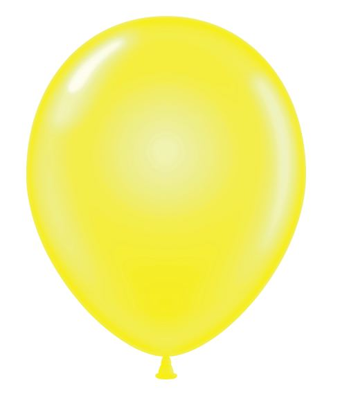 """24"""" Clear Yellow Latex Balloons 5 Count"""