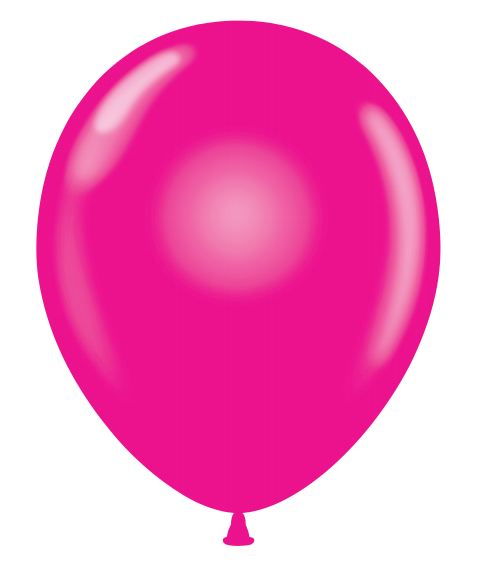 "24"" Magenta Latex Balloons 5 Count"