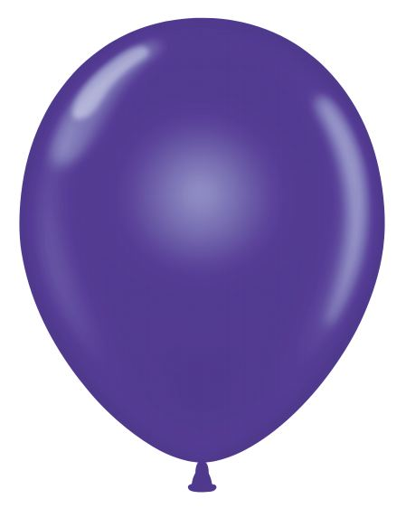 "24"" Purple Latex Balloons 5 Count"