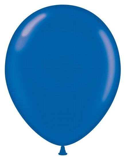 """24"""" Crystal Sapphire Blue Latex Balloons 5 Count"""