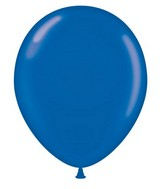 """24"""" Crystal Sapphire Blue Latex Balloons 5 Count Brand Tuftex"""