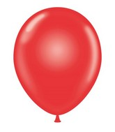 "24"" Crystal Red Latex Balloons 5 Count"