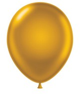 "24"" Gold Latex Balloons 5 Count"