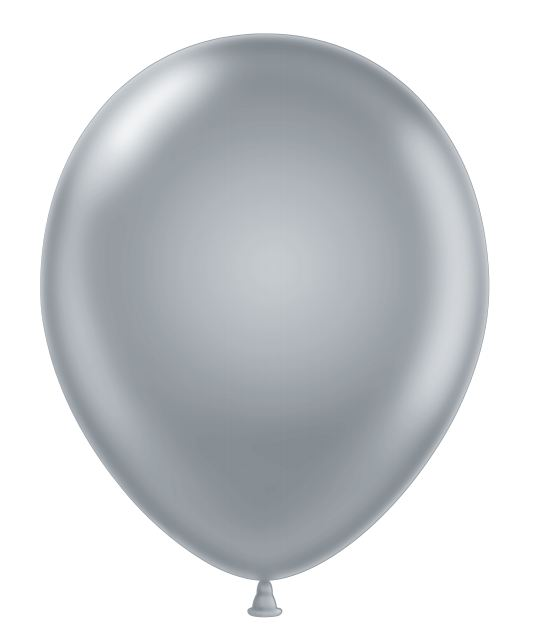 """24"""" Silver Latex Balloons 5 Count"""