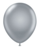 "24"" Silver Latex Balloons 5 Count"