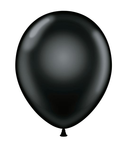 "24"" Black Latex Balloons 5 Count"