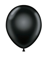 "24"" Black Latex Balloons 5 Count"
