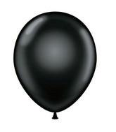 "24"" Black Latex Balloons 5 Count Brand Tuftex"