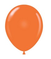 "24"" Tangerine Latex Balloons 5 Count"