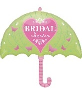 "30"" Pink Butterfly Bridal Shower Umbrella"