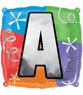 "18"" Designer  Square Letter Balloon ""A"""