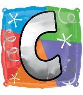 """18"""" Designer  Square Letter Balloon """"C"""""""