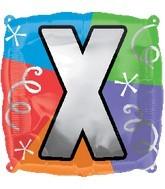 """18"""" Designer  Square Letter Balloon """"X"""""""