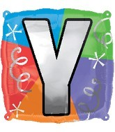 "18"" Designer  Square Letter Balloon ""Y"""