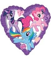 """18"""" My Little Pony Purple Heart Balloon"""